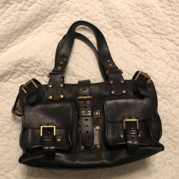 36c656ff17d Mulberry Roxanne Black Leather Bag Satchel. M 5b0defa450687cf69afa76fb